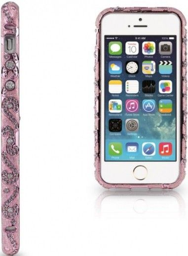 Бампер Newsh MERAL AND DIAMONDS iPhone 5 Pink