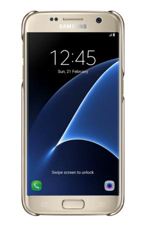Чехол Samsung Clear Cover для Galaxy S7 (EF-QG930CFEGRU) Gold
