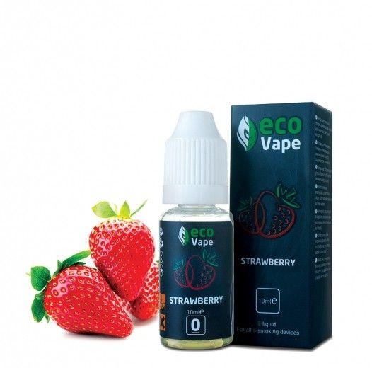 Жидкость для электронных сигарет ECO Vape Strawberries 0 мг/мл