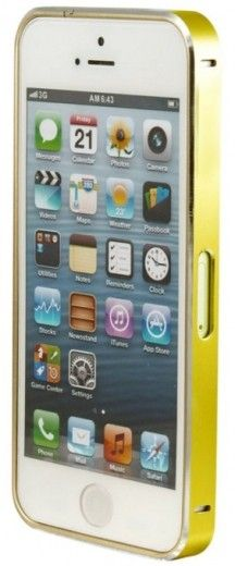 Бампер Metalic Slim iPhone 5 Gold