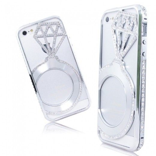Бампер Metal Dior Diamonds iPhone 6 Silver