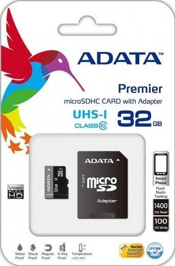 Карта памяти A-DATA 32GB microSD UHS-1 + adapter