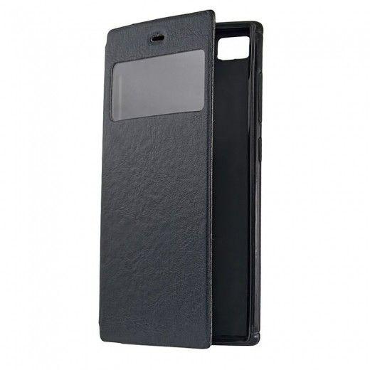 Чехол-книжка со смарт окошком МК Samsung J100 Black