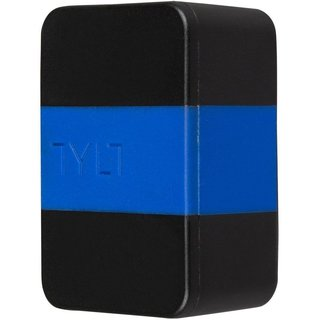 Сетевое зарядное устройство Tylt Wall Travel Charger 4,2A Dual USB Port Black-Blue (USBTC42BL-EUK)