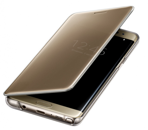 Чехол Samsung Clear View Cover Note 7 Gold (EF-ZN930CFEGRU)