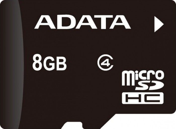 Карта памяти A-Data 8 GB microSDHC class 4