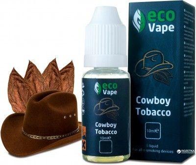 Жидкость для электронных сигарет ECO Vape Cowboy Tobacco 0 мг/мл