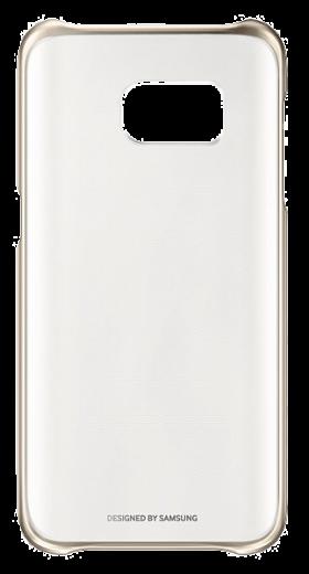 Чехол Clear Cover для Samsung S7 Edge Gold (EF-QG935CFEGRU)