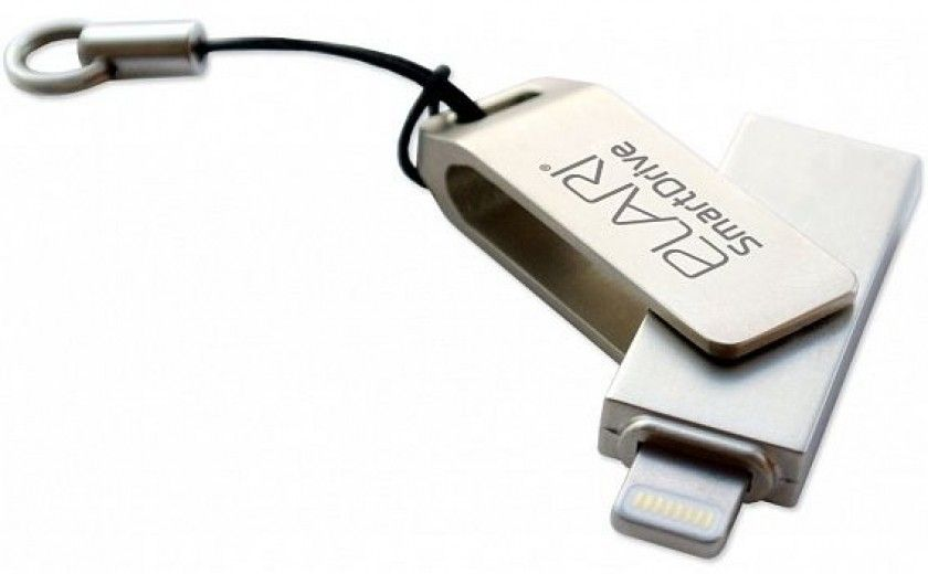 USB флеш-накопитель Elari SmartDrive 64GB (USB/Lightning) Silver (ELSD64GB)