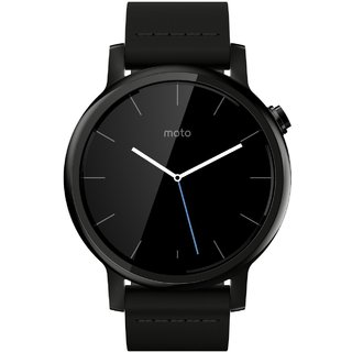 Смарт часы Motorola Moto 360 2nd Generation Smartwatch 42mm Stainless Steel with Black Leather Strap