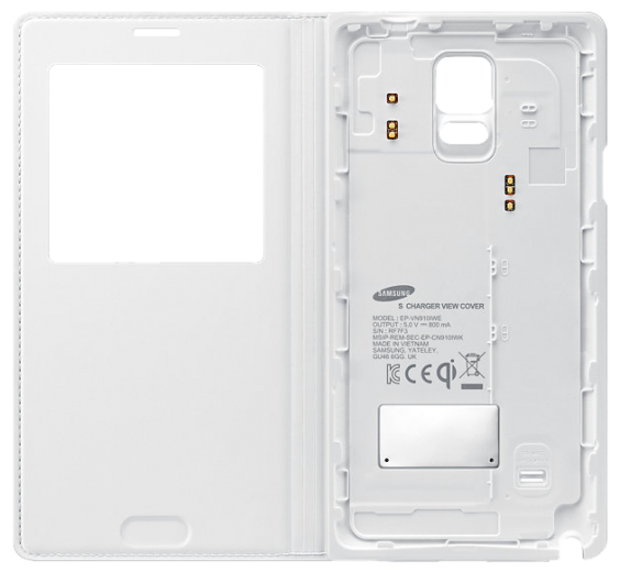 Чехол Samsung S Charger Cover для Galaxy Note 4 EP-VN910IWRGRU White
