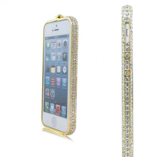 Бампер Metal Million Diamonds iPhone 6 Gold