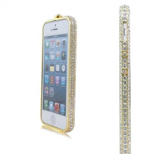 Бампер Metal Million Diamonds iPhone 6 Gold