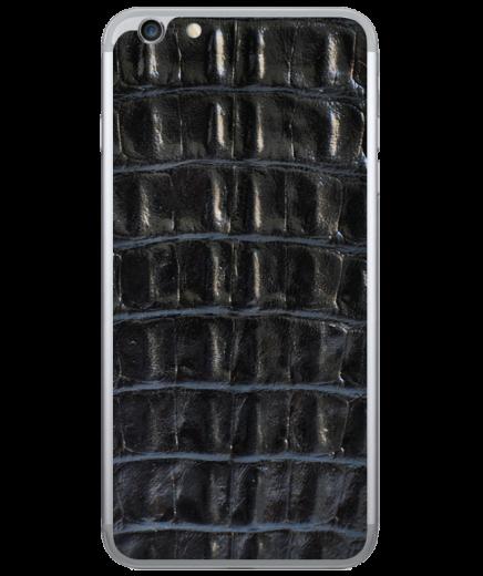 Кожаная наклейка Black Croco для iPhone 6/6S