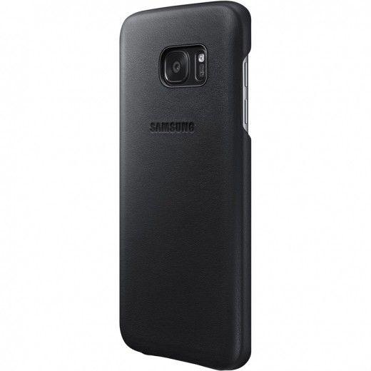 Чехол для сотового телефона Samsung Leather Cover S7 Black (EF-VG930LBEGRU)
