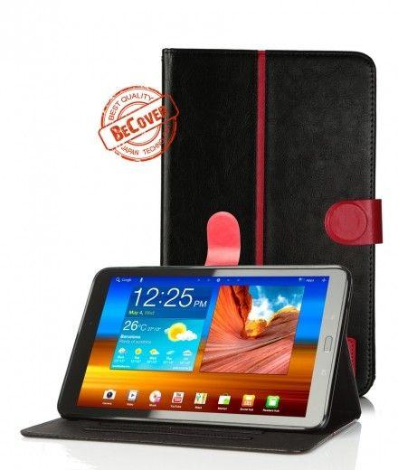 Кожаный чехол Folio PU BeCover для Samsung Tab E 9.6 T560/T561 Black-Red