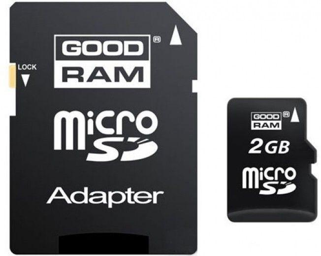 Карта памяти Goodram MicroSD 2GB + SD-adapter (SDU2GAGRR10)
