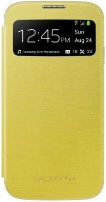 Чехол Samsung для Galaxy S4 I9500 S-View Yellow (EF-CI950BYEGWW)