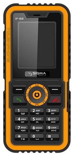 Мобильный телефон Sigma mobile X-treme IP68 Black Orange