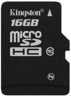 Карта памяти Kingston 16 GB microSDHC class 10 SDC10/16GBSP