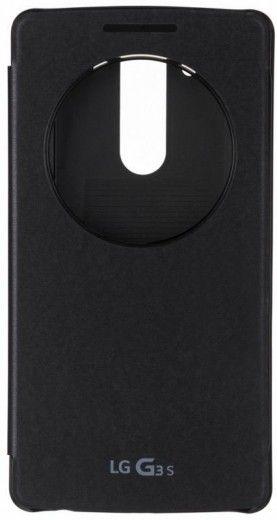 Чехол LG QuickWindow для LG G3s D724 Black (CCF-490G.AGEUTB)