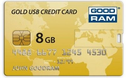 USB флеш накопитель Goodram Gold USB Credit Card 8GB (PD8GH2GRCCPR9)