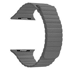 Ремешок Apple Leather Loop Band for Apple Watch 42mm Grey