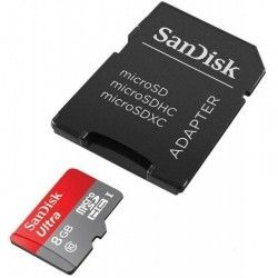 Карта памяти SanDisk 8 GB microSDHC Mobile Ultra Class 10 UHS + SD adapter