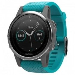 Смарт часы Garmin Fenix 5S Silver with Turquoise Band (010-01685-01)