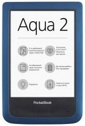 Электронная книга PocketBook 641 Aqua 2 Blue Black (PB641-A-CIS)