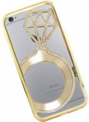 Бампер Metal Dior Diamonds iPhone 6 Gold