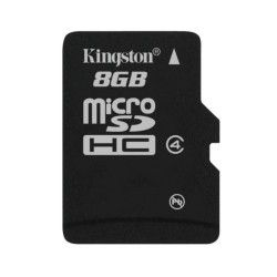 Карта памяти KINGSTON 8GB Micro SD Class4 (SDC4/8GBSP)