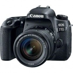 Фотоаппарат Canon EOS 77D EF-S 18-55mm IS STM Kit Black (1892C022)