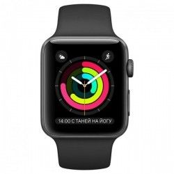 Смарт часы Apple Watch Series 1 Sport 38mm Space Grey Aluminium Case with Black Sport Band (MP022)