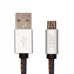 Кабель Just Unique USB - microUSB 1 м Jeans (MCR-UNQ-JEAN)