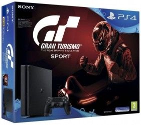 Игровая приставка Sony PlayStation 4 Slim 1TB (CUH-2108B) Bundle + игра Gran Turismo Sport (PS4)