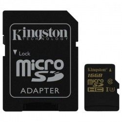 Карта памяти Kingston microSDHC 16GB Gold Class 10 UHS-I U3 + SD-адаптер (SDCG/16GB)