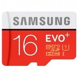 Карта памяти Samsung 16 GB microSDHC Class 10 UHS-I EVO Plus + SD Adapter (MB-MC16DA)
