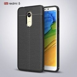 Накладка TPU Leather AF Back Cover Xiaomi Redmi 5 Black