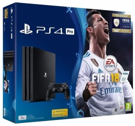 Игровая приставка Sony PlayStation 4 Pro 1Tb CUH-7008B) Bundle + игра FIFA 18 (PS4)