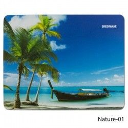 Коврик для мыши Greenwave Nature-01 S Blue/Green (R0004736)