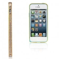 Бампер Metalic Slim Elegant iPhone 5 Gold