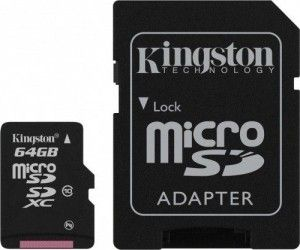 Карта памяти Kingston MicroSDXC G2 64GB Class 10 + SD-adapter (SDC10G2/64GB)