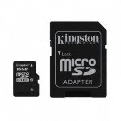 Карта памяти Kingston 16 GB microSD class 10 + адаптер G2 45 Mb/s (SDC10G2/16GB)