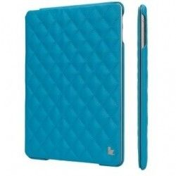 Чехол-книжка для iPad Jison Quilted Leather Smart Case (JS-ID5-02H40) Blue for iPad Air/Air 2
