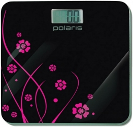 Весы напольные  POLARIS PWS 1523DG Black/Flower