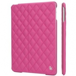 Чехол-книжка для iPad Jison Quilted Leather Smart Case (JS-ID5-02H33) Rose Red for iPad Air/Air 2