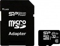 Карта памяти Silicon Power microSDHC 32GB Elite UHS-I (SP032GBSTHBU1V10-SP)
