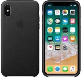 Накладка Leather Case Iphone X Black