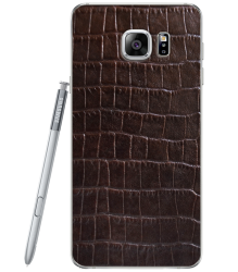 Кожаная наклейка Dark Brown Croco для Samsung Galaxy Note 5 (N920)